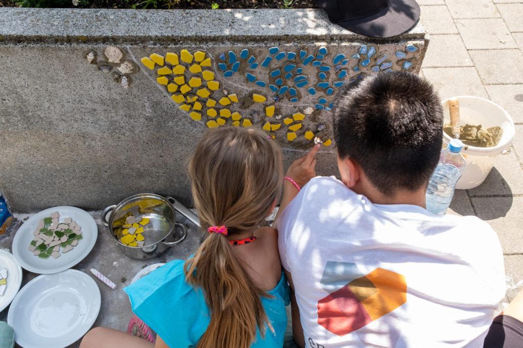 Impression der Aktion: Mosaik statt Beton